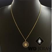 Corrente Ouro 18k Italiano Com Pingente 45 cm 2gr WD8888