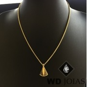 Corrente Ouro 18k Italiano Com Pingente 45 cm 4,3gr WD8889