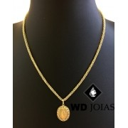 Corrente Ouro 18k Italiano Com Pingente 50 cm 12,0gr WD8897