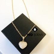 Pingente de Ouro Coração Feminina 4gr WD9006