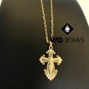 Pingente de Ouro Crucifixo Masculino 2,5gr WD8998