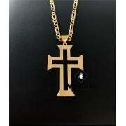 Pingente de Ouro Crucifixo Masculino 4gr WD8995