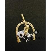 Pingente de Ouro Ferradura Masculino 3,1gr WD9005
