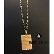 Pingente de Ouro Medalha do Pai Nosso 1,7gr WD9001
