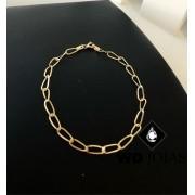 Pulseira de Ouro Groumet Elo Alongado 21cm 5gr WD8993
