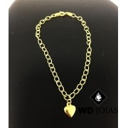 Pulseira de Ouro Groumet Feminino 17cm 13gr WD8980