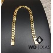 Pulseira de Ouro Groumet Masculino 21cm 45gr WD8990
