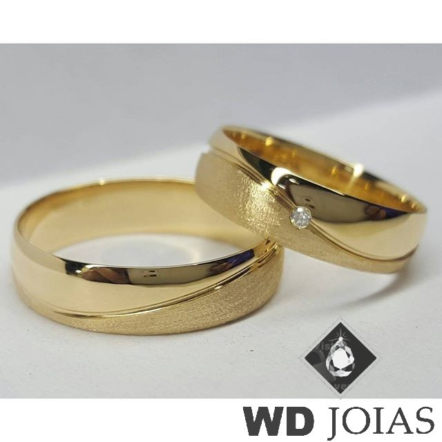 Aliança Casamento Moeda Antiga Polida e Fosca 6mm MJM13