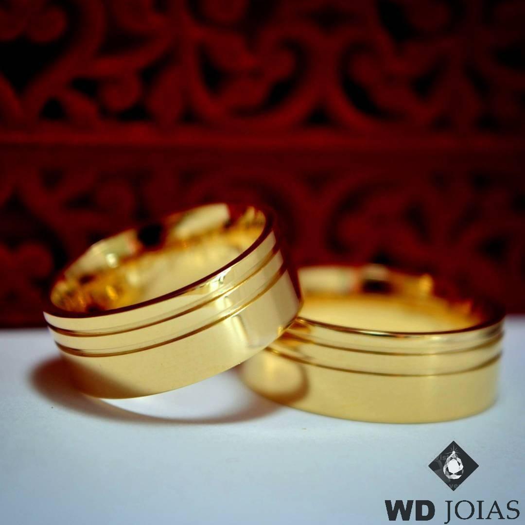 Aliança de Casamento Ouro Polida Anatômica 7mm 14g MJO19