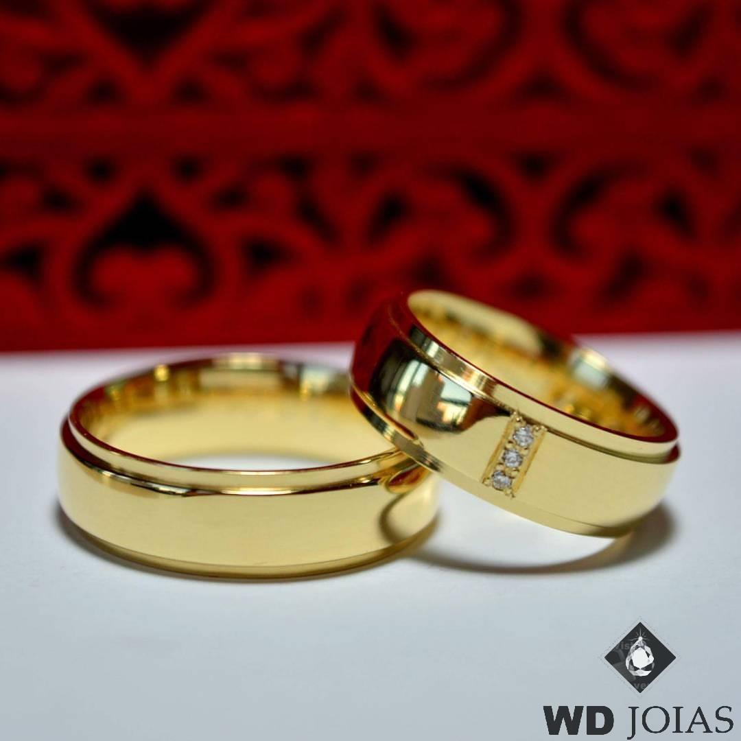 Aliança de Casamento Ouro Polida Anatômica 7mm 14g MJO24