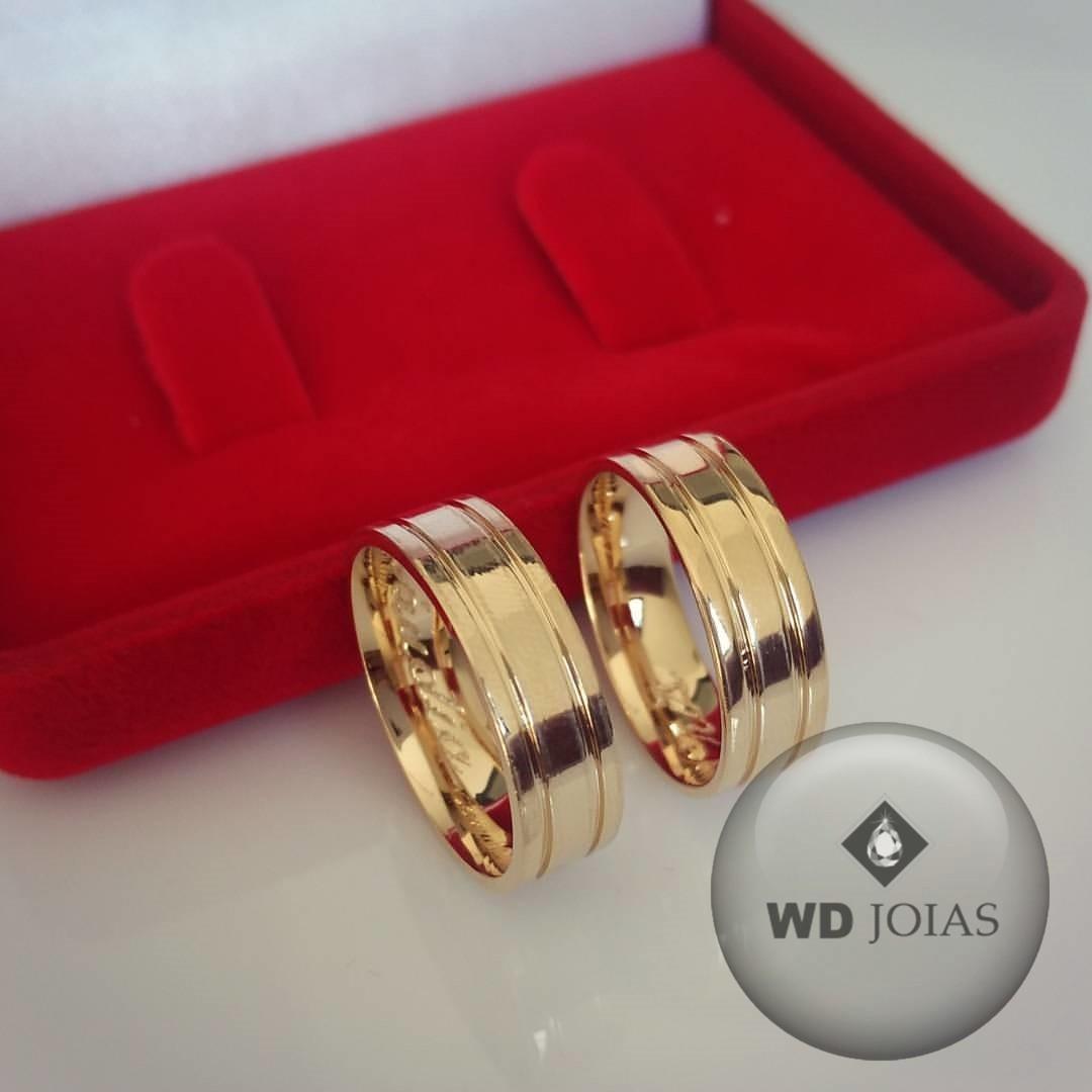 Aliança de Casamento Ouro Polida Anatômica 7mm 14g WD8756