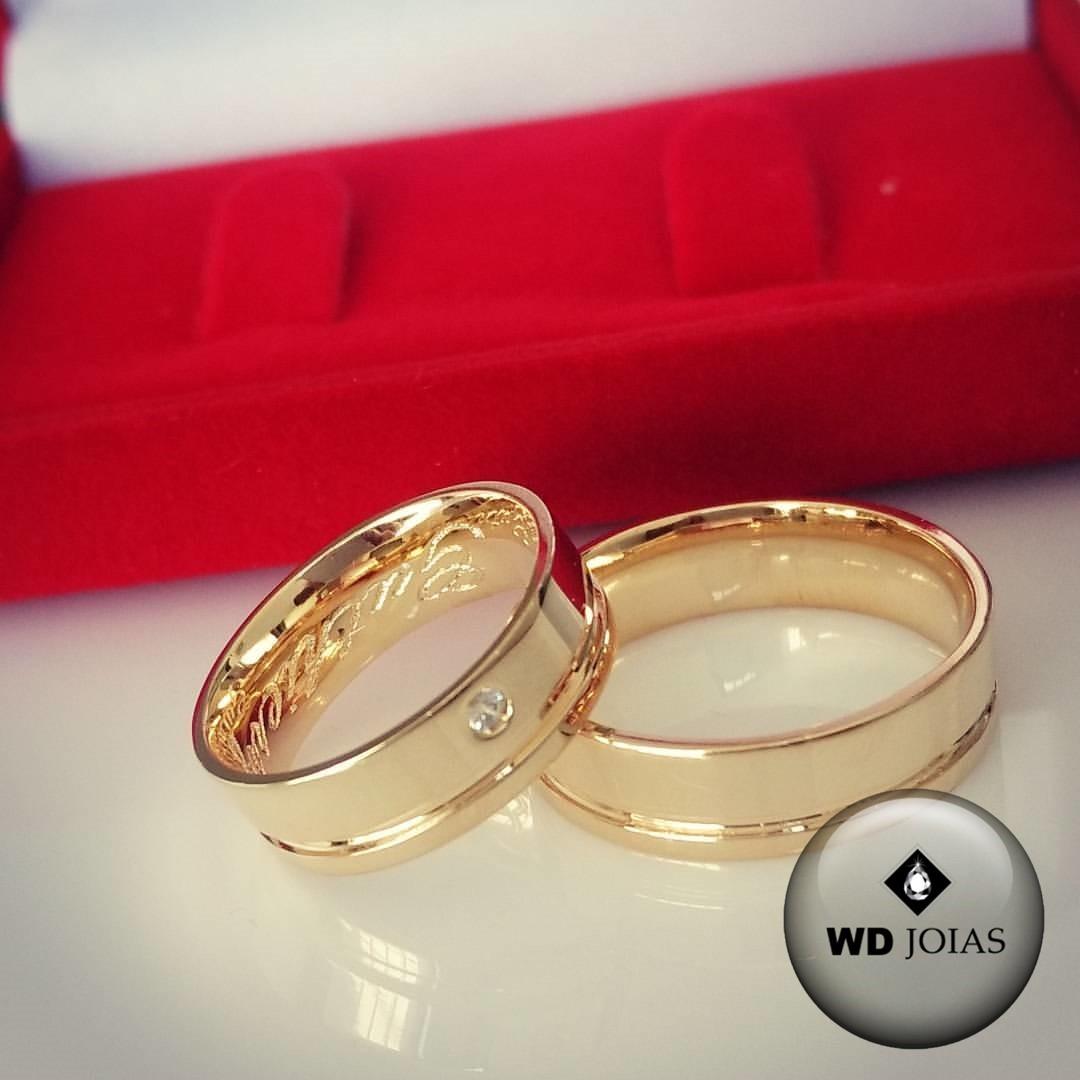 Aliança de Casamento Ouro Polida Anatômica 7mm 15g WD8763