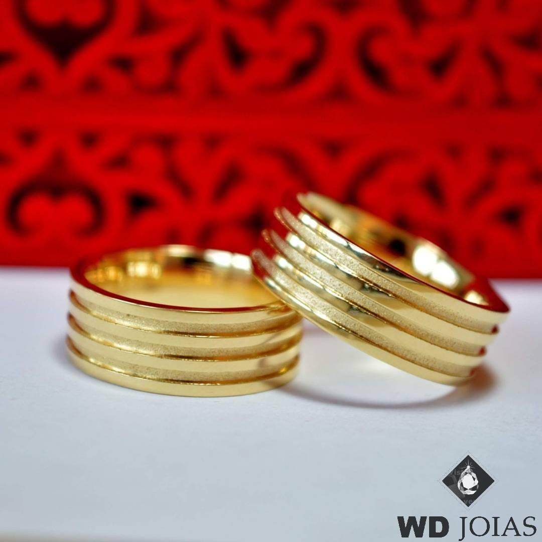 Aliança de Casamento Ouro Polida Tradicional 7mm 15g MJO27