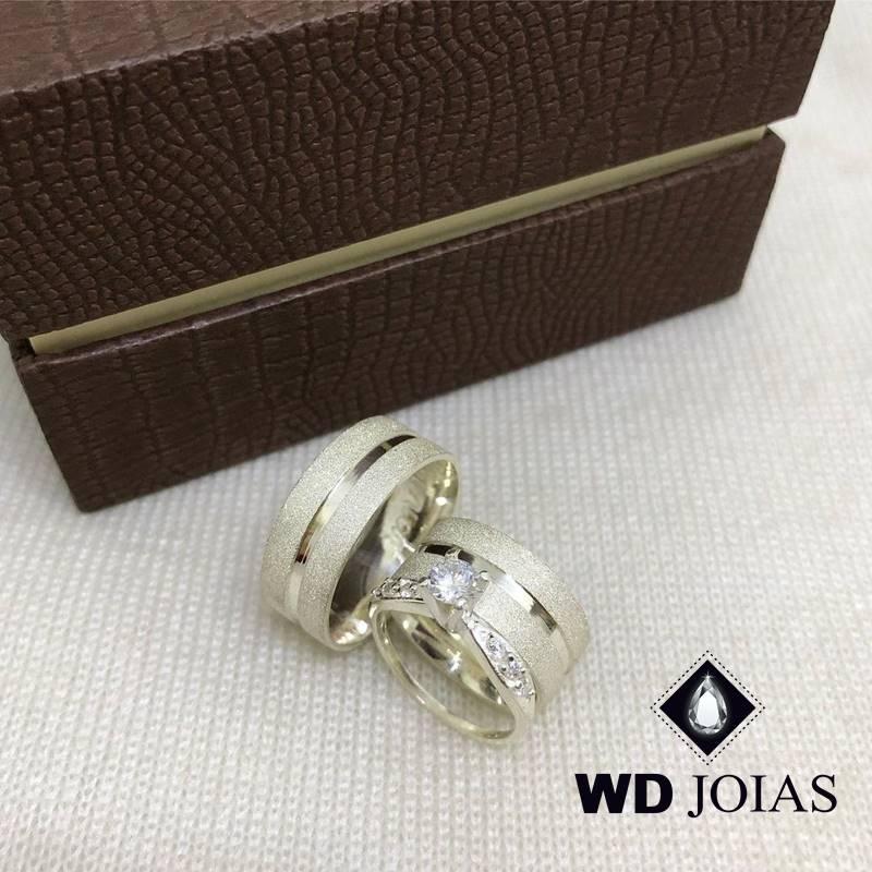 Aliança de Compromisso Prata Diamantada 8mm 18g MJP85