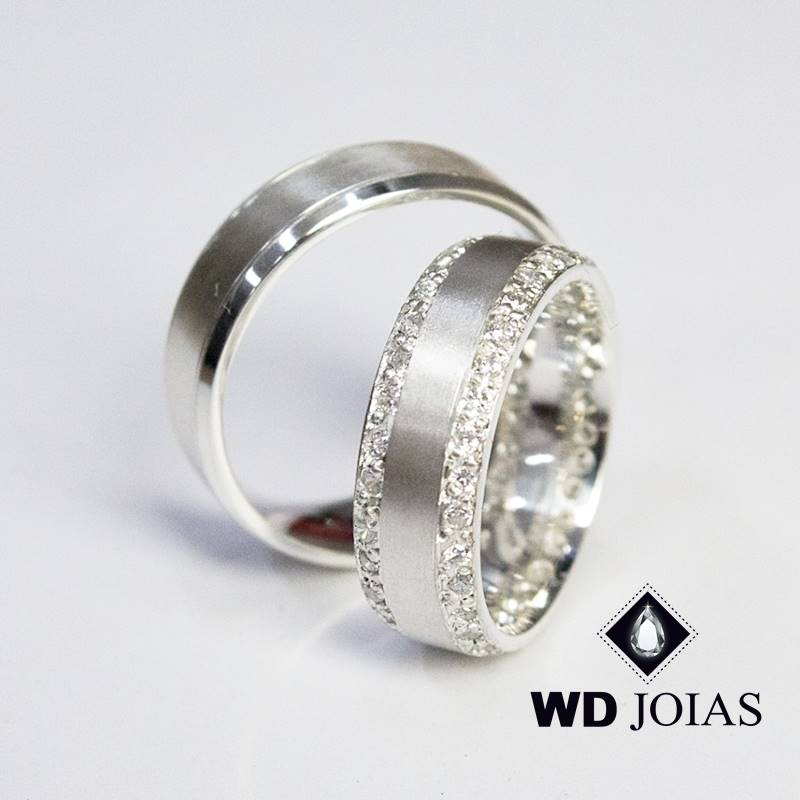 Aliança de Compromisso Prata Polida 7mm 15g MJP109