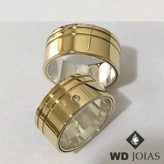 Aliança de Moeda Antiga Casamento Polida Reta 10mm MJM145