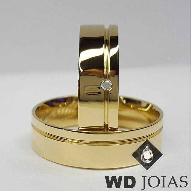 Aliancas Casamento de Moeda Antiga Polidas 7mm MJM29