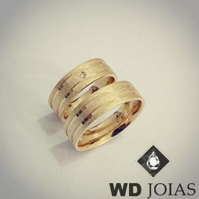 Alianças Casamento Moeda Antiga Diamantada 7mm MJM78