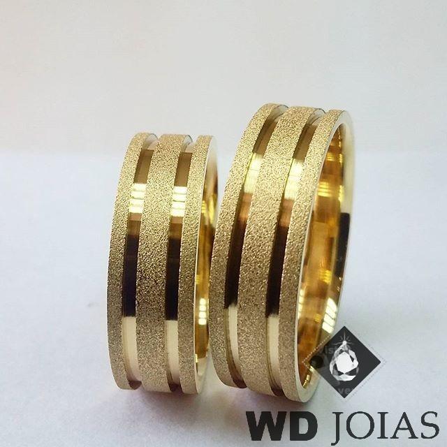 Alianças Casamento Moeda Antiga Diamantada 8mm MJM63