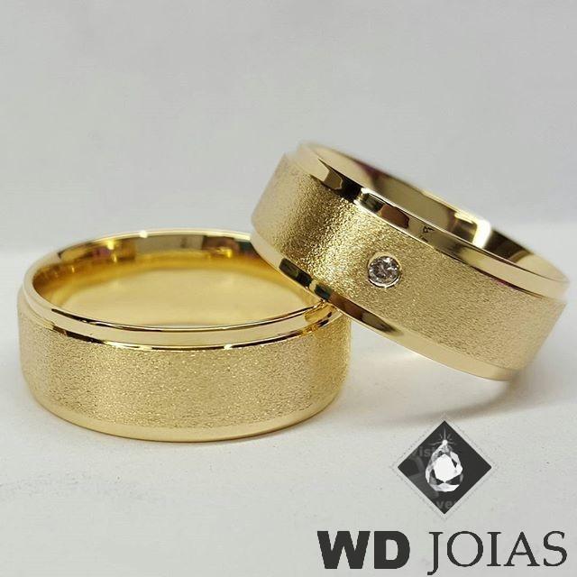 Alianças Casamento Moeda Antiga Polida e Fosca 7mm MJM70
