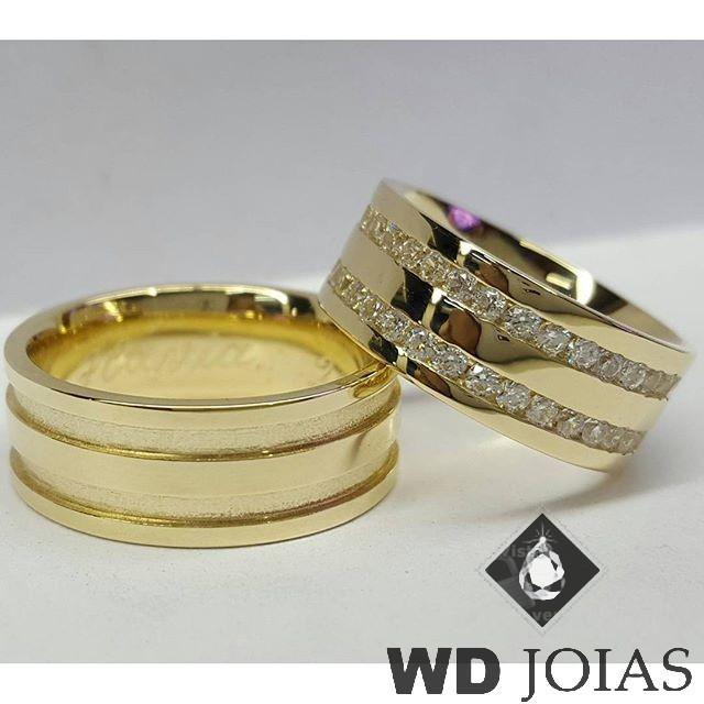 Alianças Casamento Moeda Antiga Polidas Quadrada 8mm MJM55
