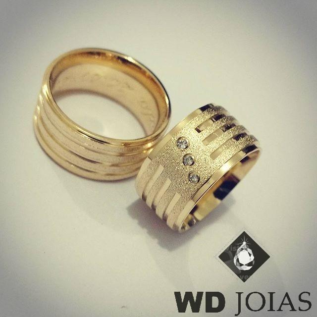 Alianças de Casamento de Moeda Antiga Diamantada 10mm MJM75
