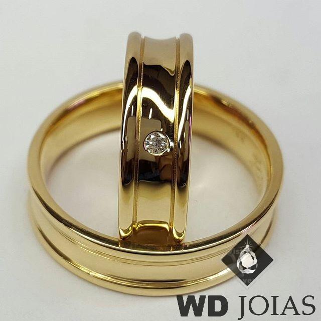 Alianças de Casamento Moeda Antiga Côncava Polida 7mm MJM60