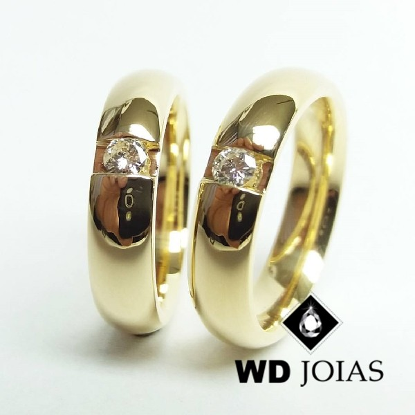 Alianças de Casamento Ouro Polida 6mm 12g WD8724