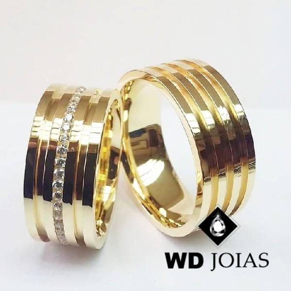 Alianças de Casamento Ouro Polidas 10mm 24g WD8860