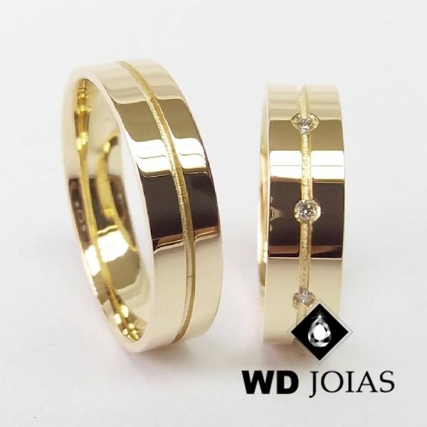 Alianças de Casamento Ouro Polidas 5mm 10g WD8792