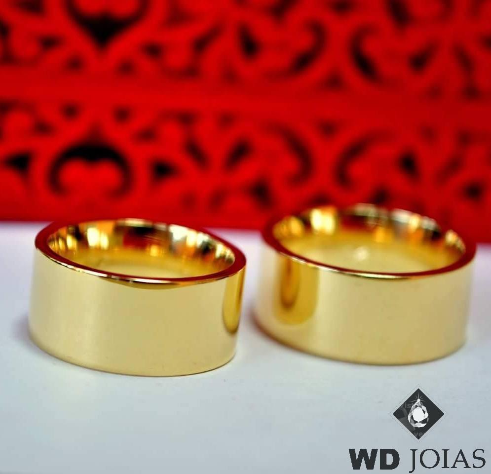 Alianças de Casamento Ouro Polidas lisa 10mm 26g WD8737