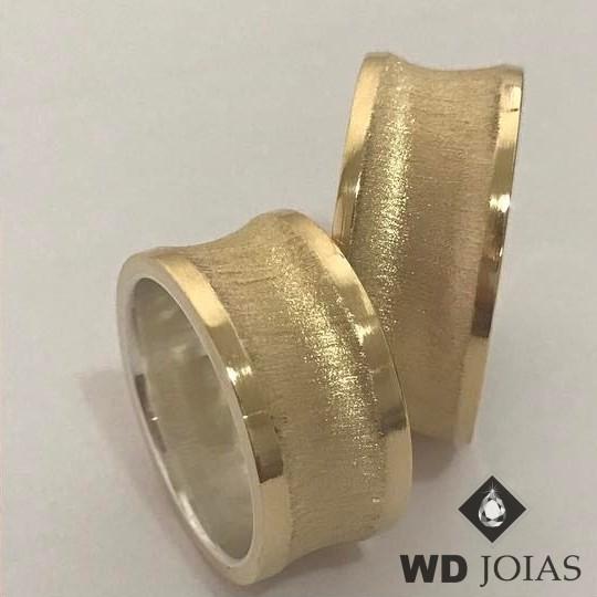 Alianças de Moeda Antiga Casamento Fosco 10mm MJM154