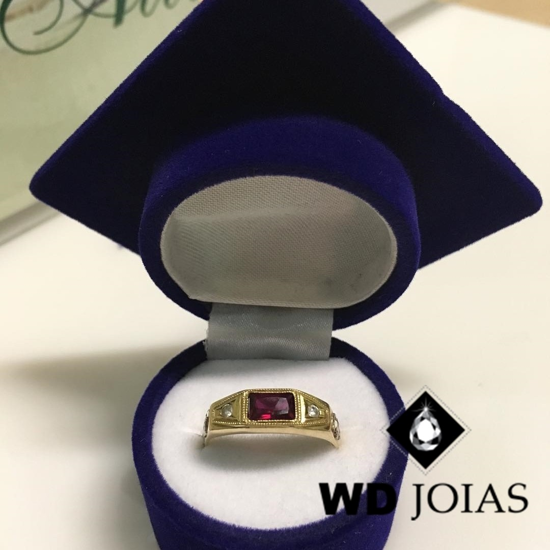 Anel de Formatura Ouro 3mm 2,7g MJA72