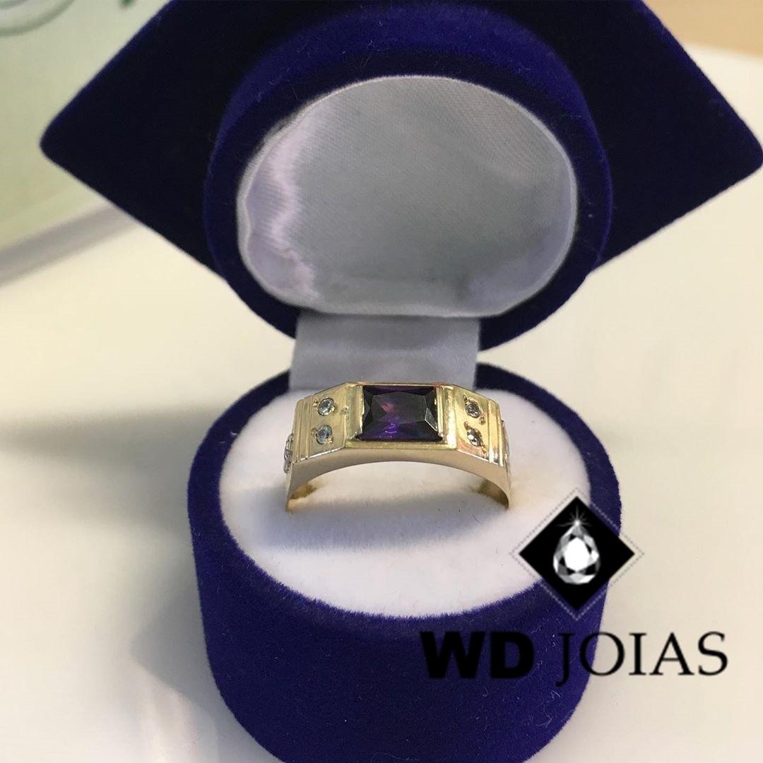 Anel de Formatura Ouro 5mm 6,0 gr MJA114