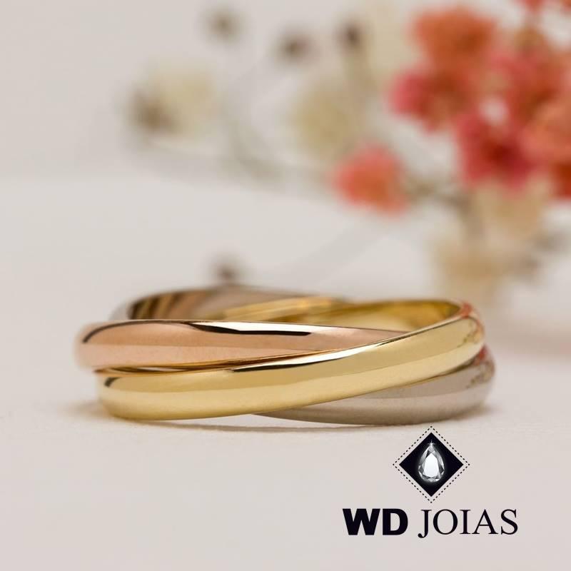Anel de Ouro Cartier Feminino Polida 3g MJA134
