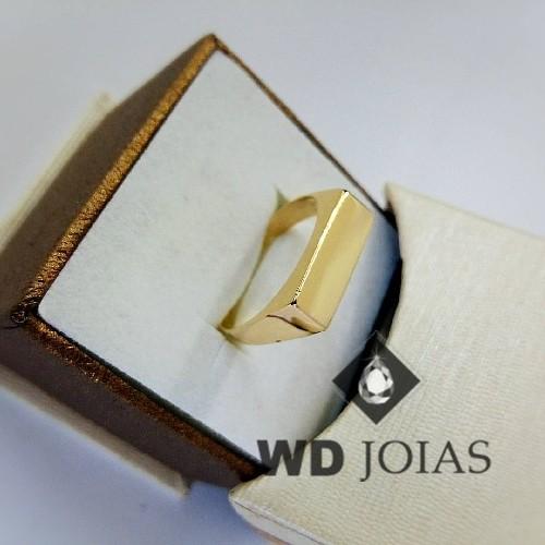 Anel de Ouro Masculino Polida 8g MJA36
