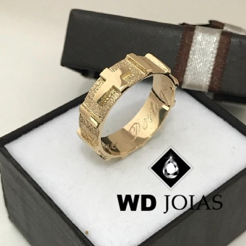 Anel de Ouro Terço Masculino 5mm 5g MJA49