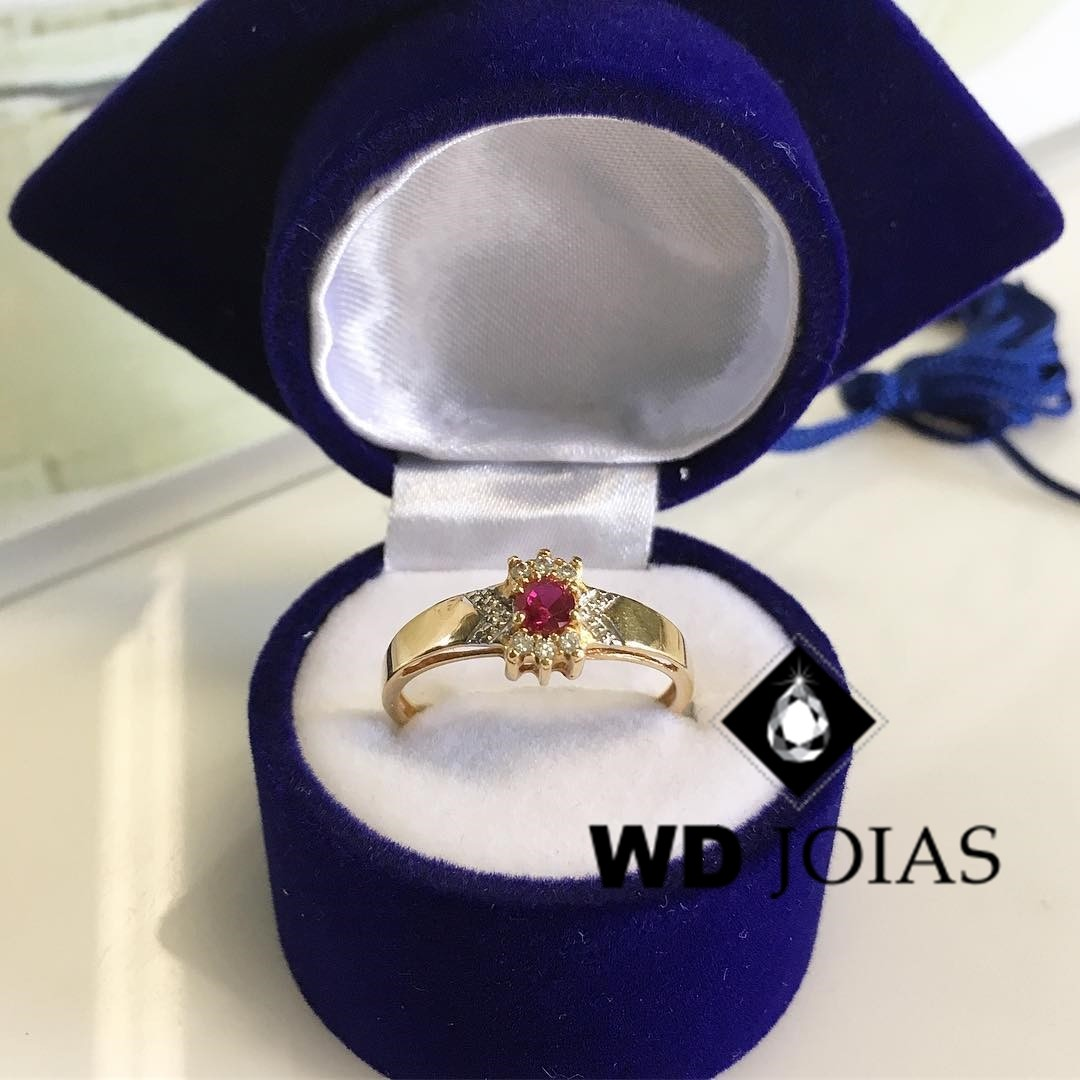 Anel Formatura Ouro 18k 3mm 3,8gr MJA97