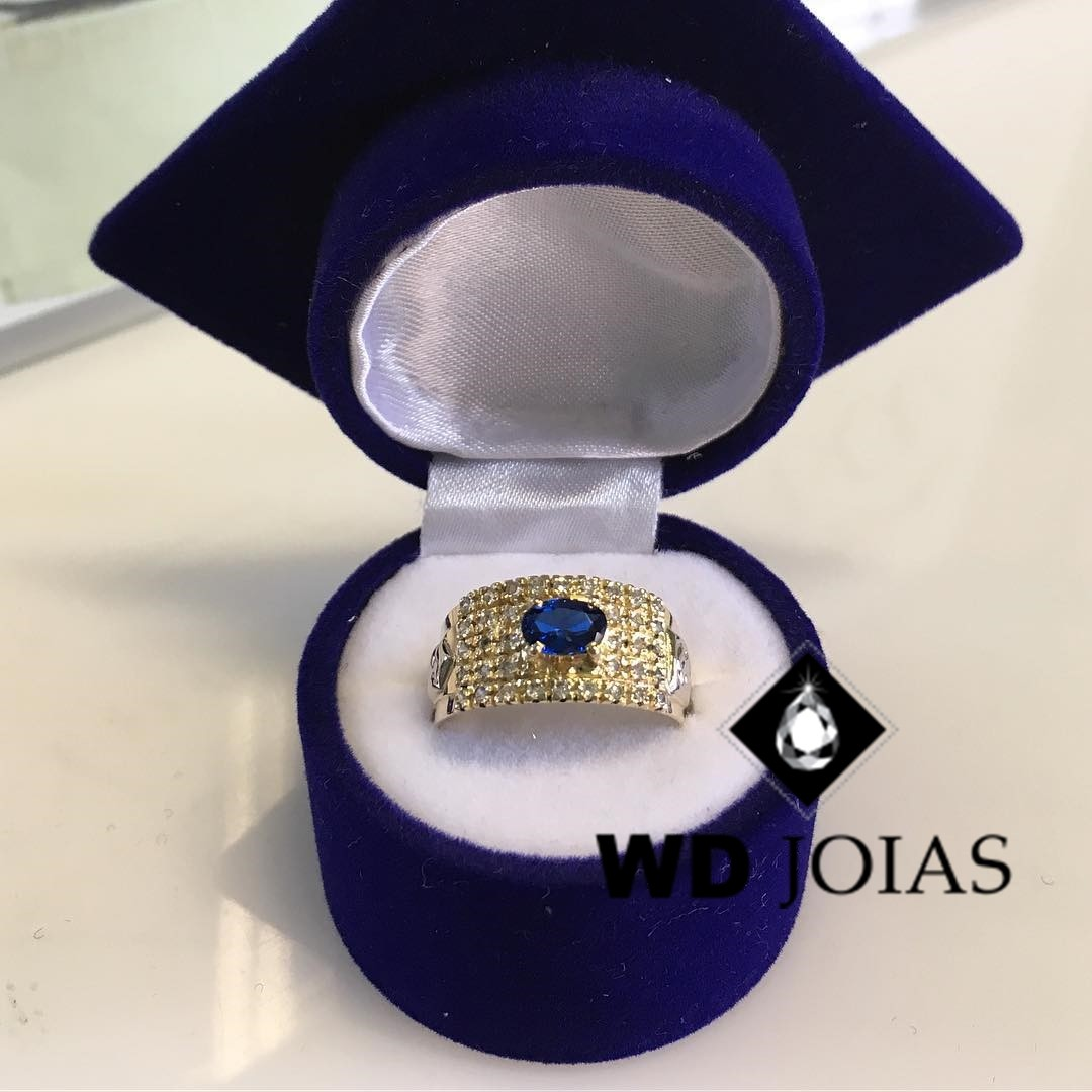 Anel Formatura Ouro 18k 6mm 8gr MJA96