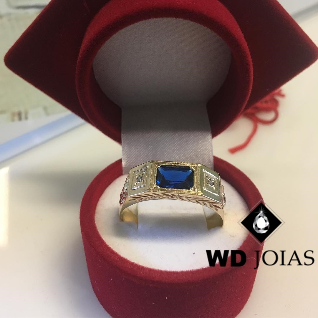 Anel Formatura Ouro 18k 7mm 8 gr MJA92
