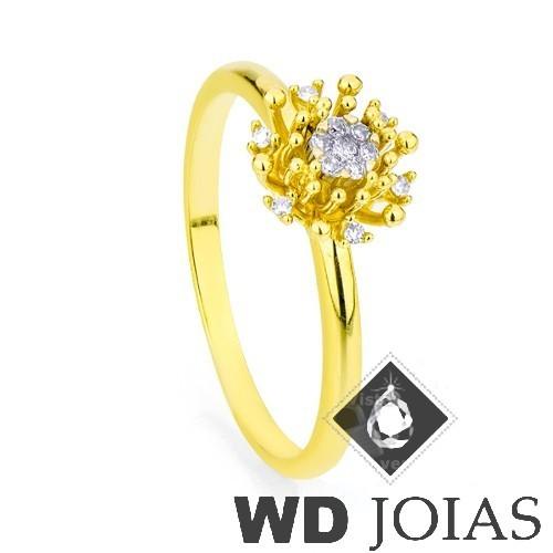 Anel Solitário Ouro Polida 2,6g MJA30