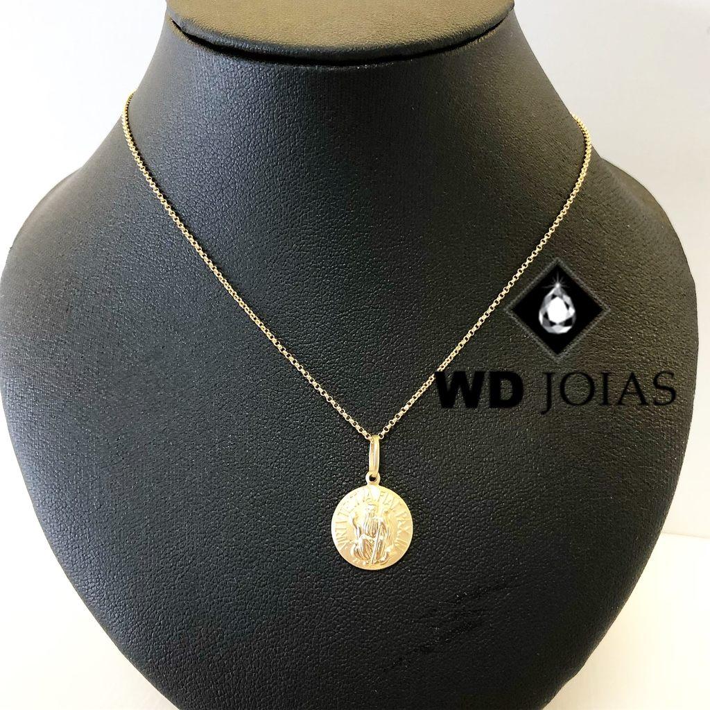 Corrente de Ouro Mini Elo Portuguesa 45 cm 3,5gr WD8957