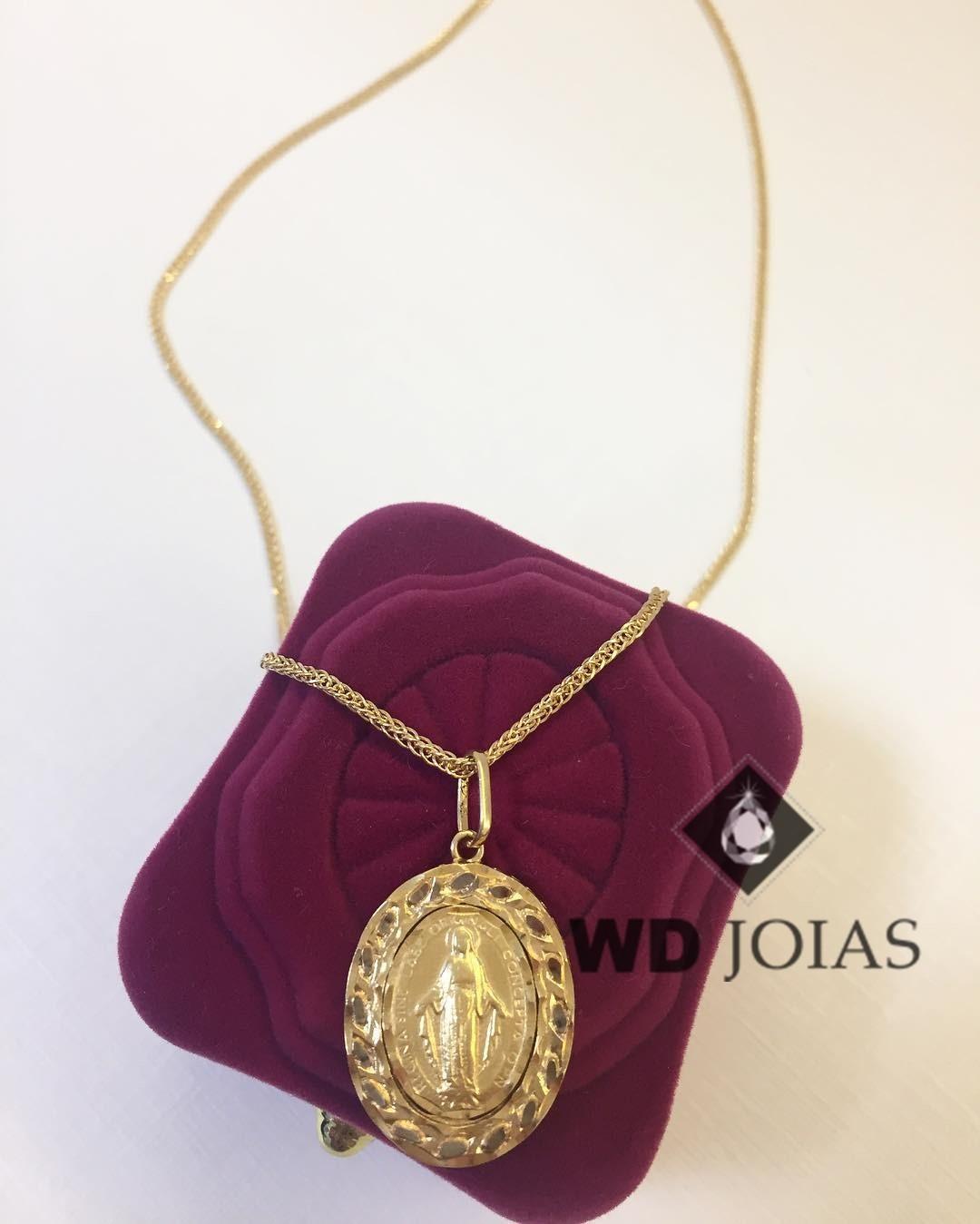 Corrente Ouro 18k Baiano Com Pingente 45 cm 4,2gr WD8918