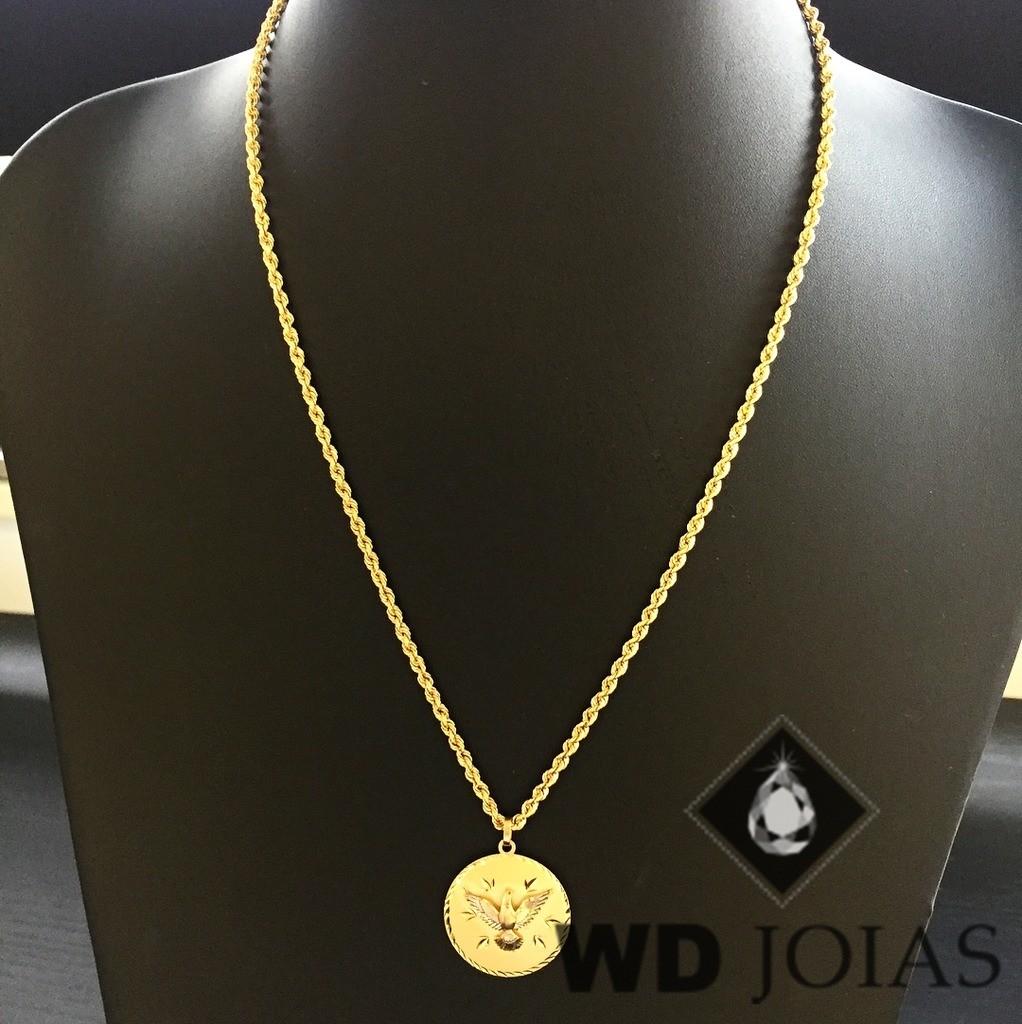 Corrente Ouro 18k Baiano Com Pingente 50 cm 9,6gr WD8891