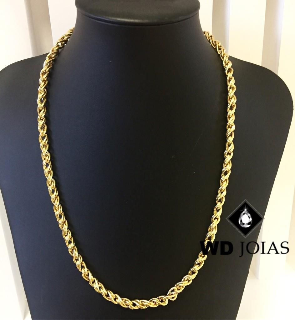 Corrente Ouro 18k Bali Com Pingente 60 cm 52,0gr WD8900