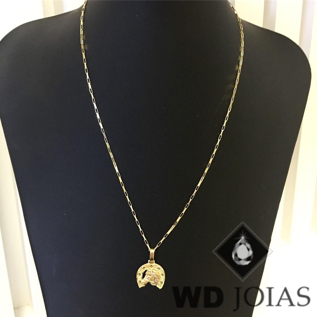 Corrente Ouro 18k Cartier Com Pingente 55 cm 4,5gr WD8871
