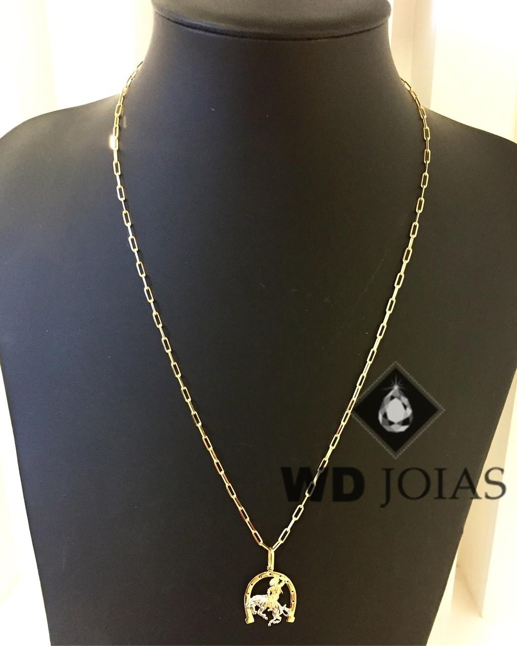 Corrente Ouro 18k Cartier Com Pingente 55 cm 7gr WD8873
