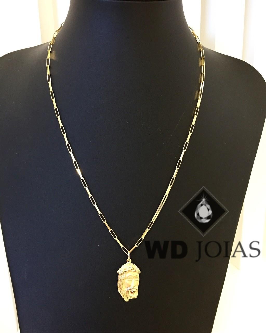 Corrente Ouro 18k Cartier Com Pingente 55 cm 8,5gr WD8874