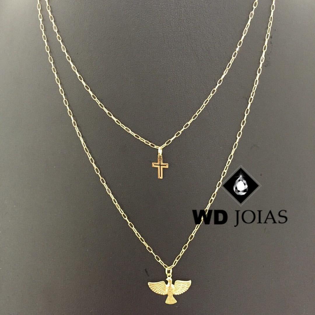 Corrente Ouro 18k Cartier Dupla 45 cm 5gr WD8917