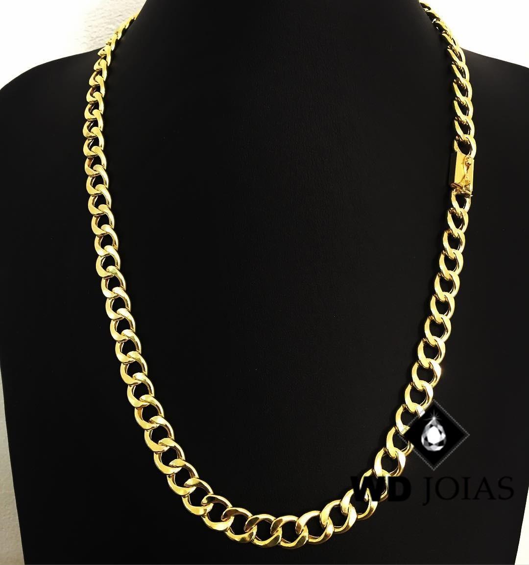 Corrente Ouro 18k groumet 60 cm 45gr WD8908